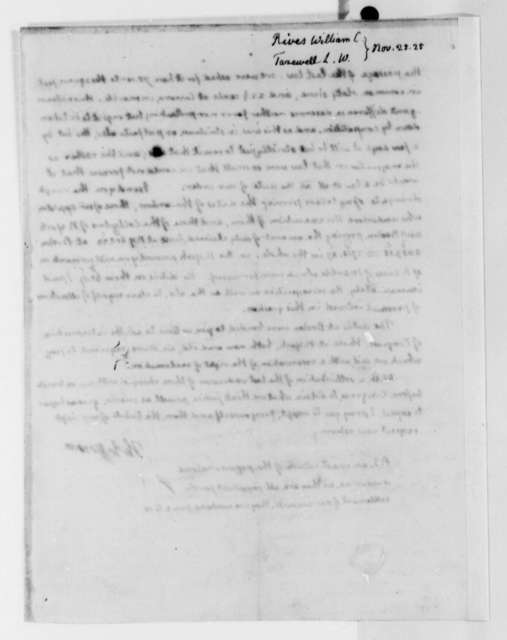 Thomas Jefferson to William Cabell Rives and Littleton Waller Tazewell, November 25, 1825