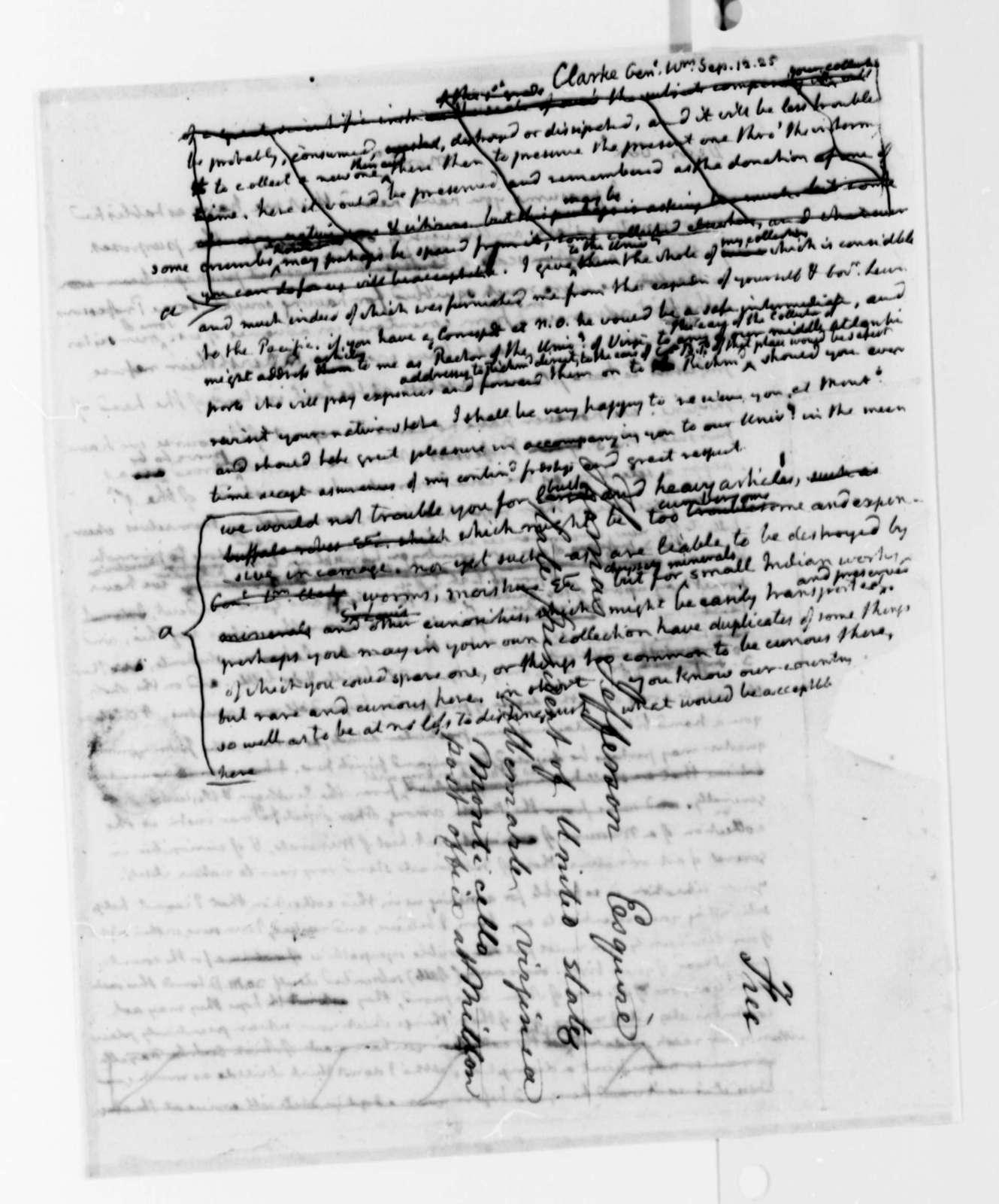 Thomas Jefferson to William Clark, September 12, 1825