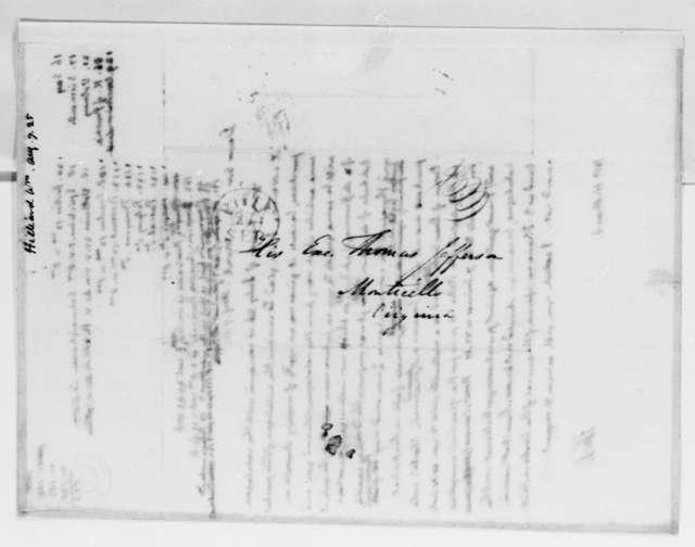Thomas Jefferson to William Hilliard, August 7, 1825