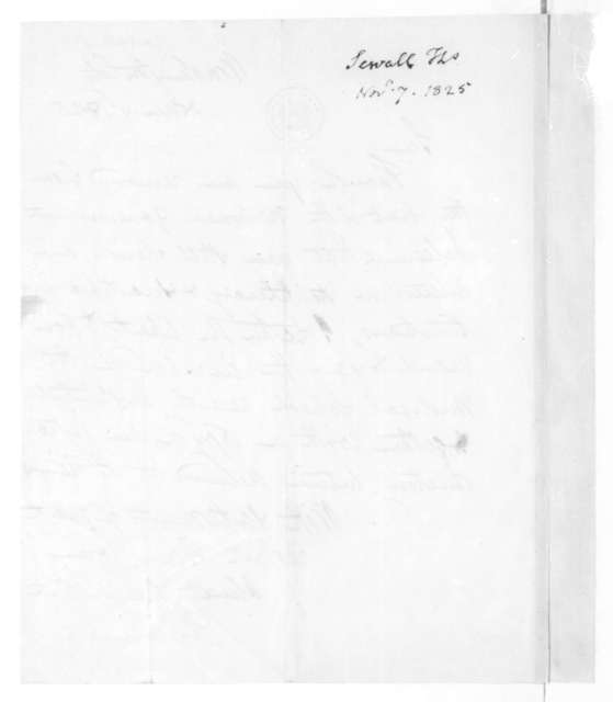 Thomas Sewall to James Madison, November 7, 1825.