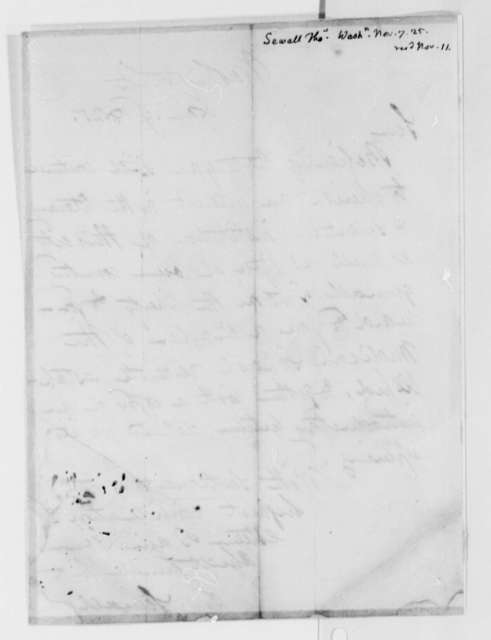 Thomas Sewall to Thomas Jefferson, November 7, 1825