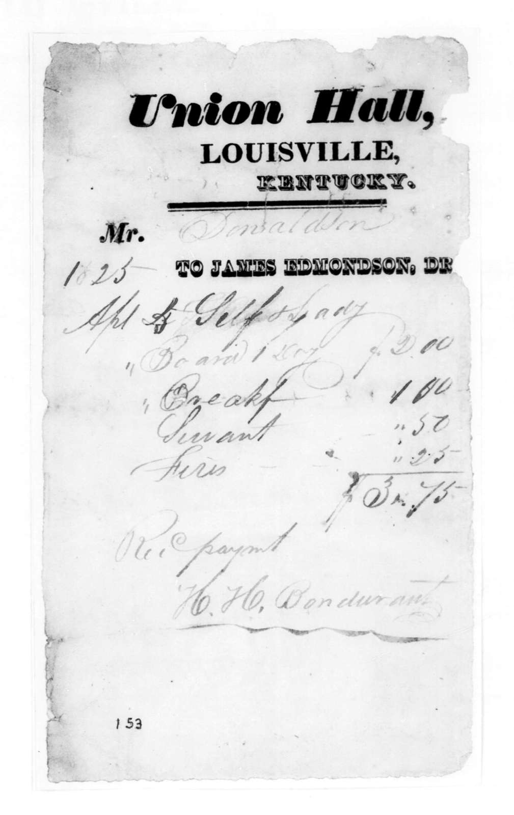 to Andrew Jackson Donelson, April 4, 1825