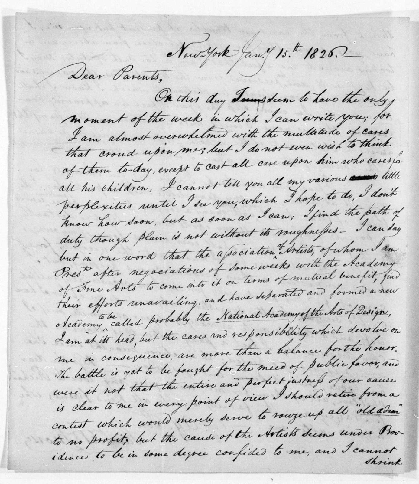 Unbound letters---1825-1829