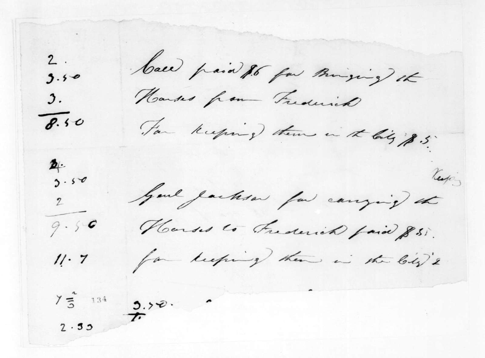 Unknown to Andrew Jackson, March 10, 1825