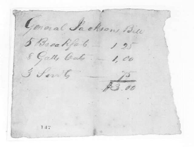Unknown to Andrew Jackson, March 18, 1825