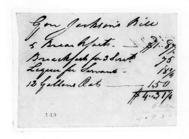 Unknown to Andrew Jackson, March 20, 1825