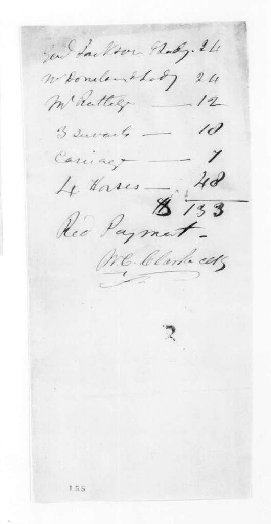 W. C. Clarke to Andrew Jackson et al., April 8, 1825