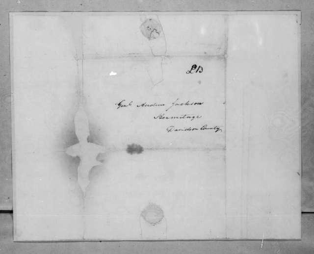 Wilkins Tannehill to Andrew Jackson, April 28, 1825