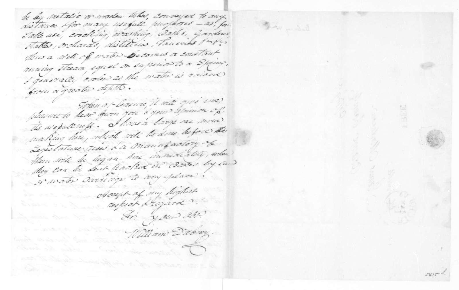 William Dabney to James Madison, January 15, 1825.