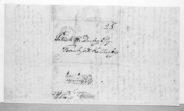 William Darby to Patrick H. Darby, February 21, 1825
