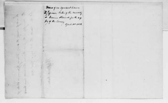 William Hilliard and Thomas Jefferson, April 8, 1825, Contract and Draft Copy