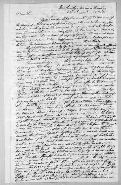 William Quarles to Andrew Jackson, August 25, 1825