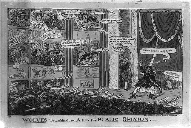 Wolves triumphant or A fig for public opinion / R C [Cruikshank].