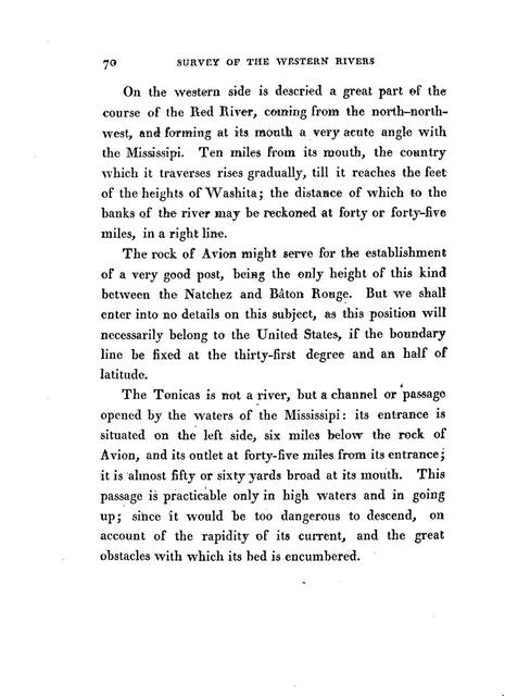 A journey in North America, containing a survey of the countries watered by the Mississippi, Ohio, Missouri, and other affluing rivers; with exact observations on the course and soundings of these rivers; and on the towns, villages, hamlets and farms of that part of the new-world; followed by philosophical, political, military and commercial remarks and by a projected line of frontiers and general limits, illustrated by 36 maps, plans, views and divers cuts.