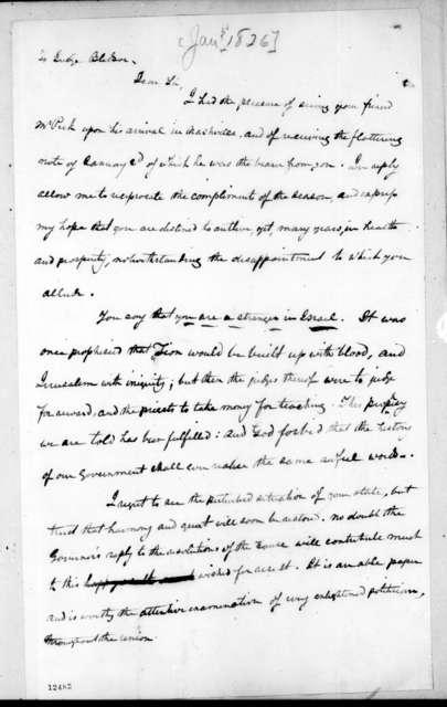 Andrew Jackson to Jesse Bledsoe