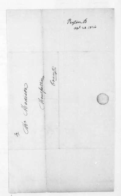 Bernard Peyton to James Madison, April 24, 1826.