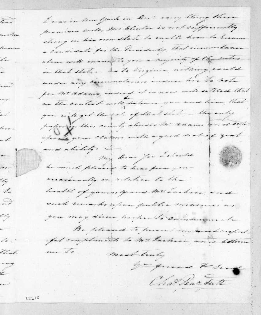 Charles Pendleton Tutt to Andrew Jackson, April 2, 1826