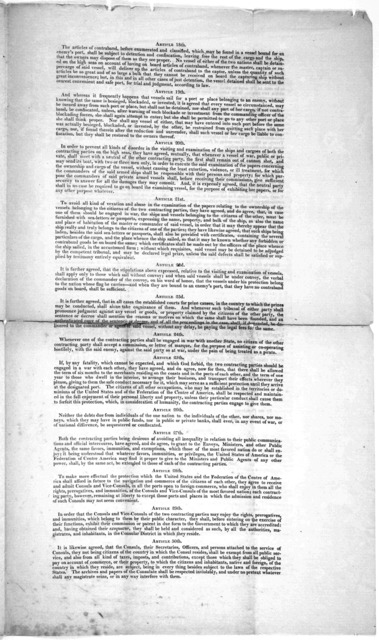 """Circular to the collectors. Treasury department, November 8th, 1826. Sir. I have caused to be annexed hereto, for your information, the copy of a """"General Convention of peace, amity, commerce and navitagation, between the United States of Americ"""