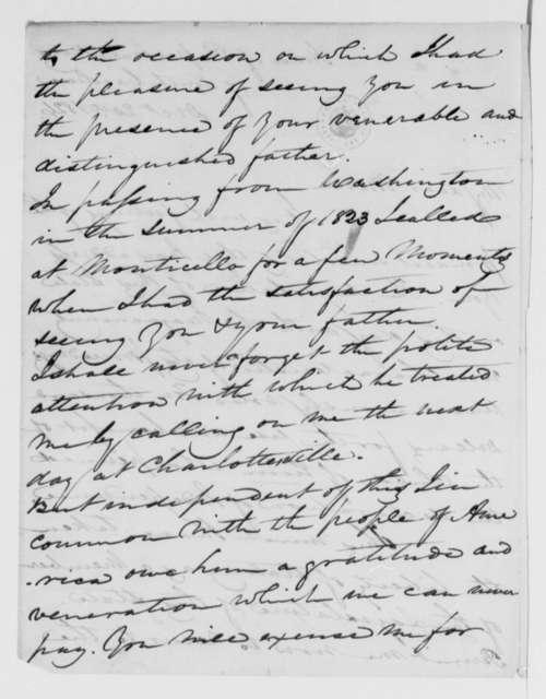 E. S. Davis to Martha Randolph, December 20, 1826