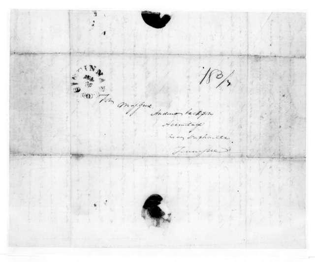 Edward George Washington Butler to Andrew Jackson, July 14, 1826