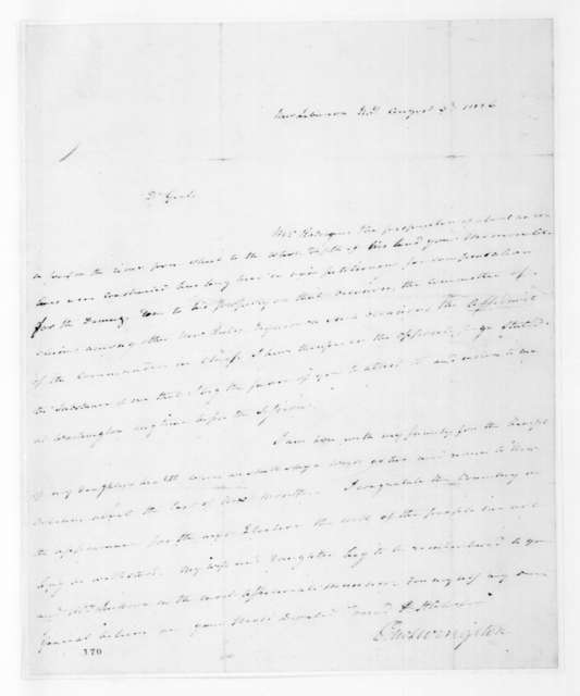 Edward Livingston to Andrew Jackson, August 3, 1826
