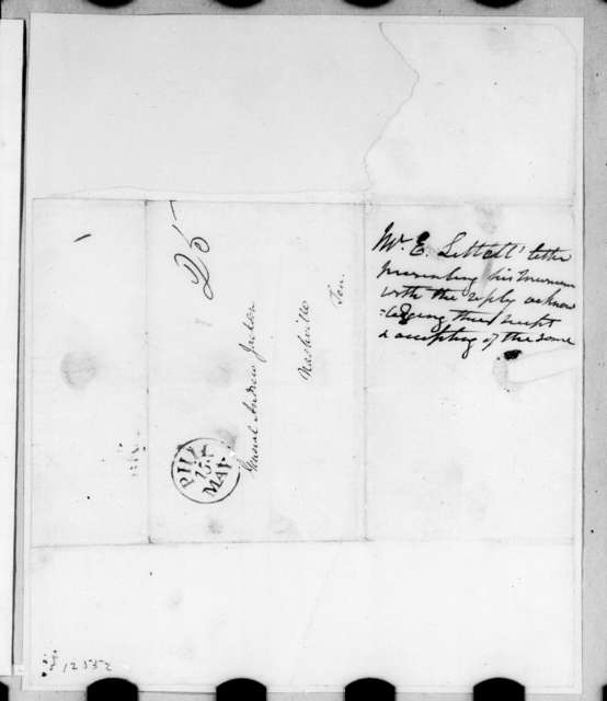 Eliakim Littell to Andrew Jackson, May 12, 1826