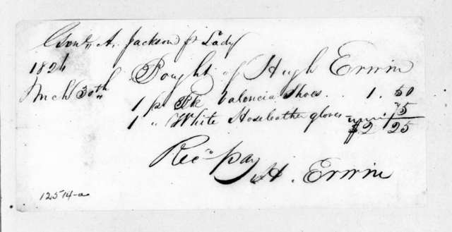 Hugh Erwin to Andrew Jackson, March 30, 1826