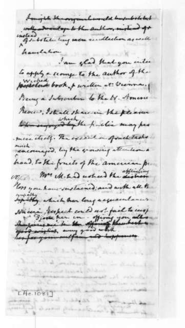 James Madison to Peter S. Duponceau, January 23, 1826.