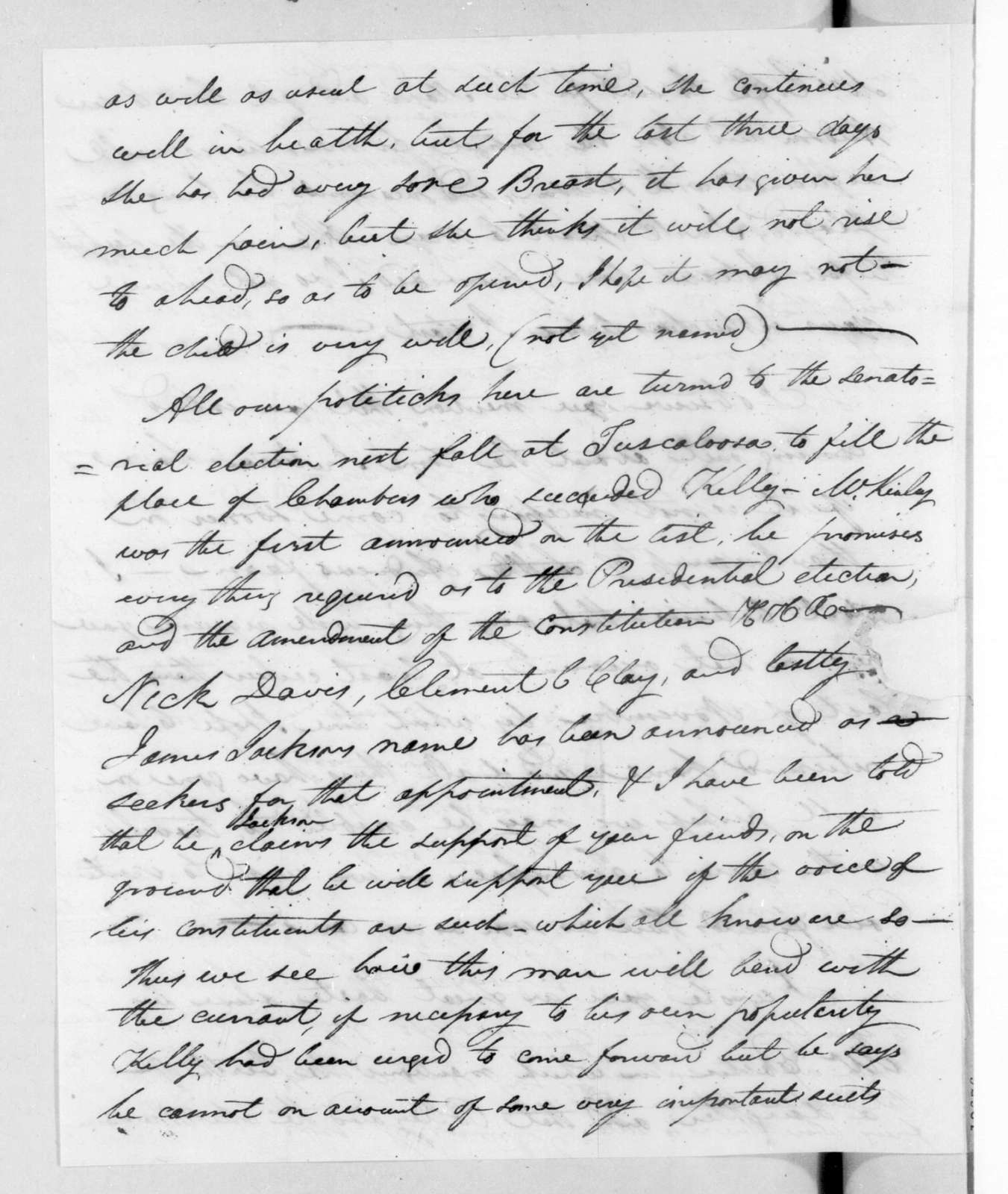 John Coffee to Andrew Jackson, October 1, 1826