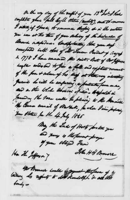 John H. I. Browere to Thomas Jefferson, June 15, 1826