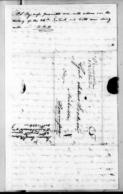 Samuel Ragland Overton to Andrew Jackson, August 28, 1826