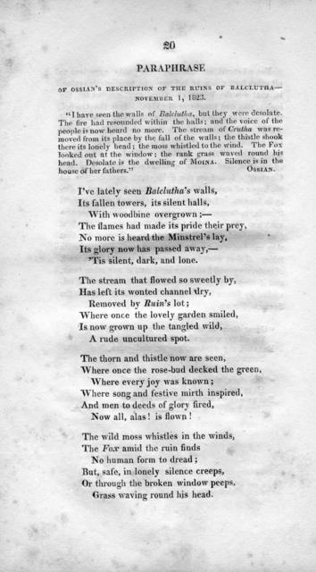 School exercises of the Lafayette Female Academy : including Trumpets of genius, a poem