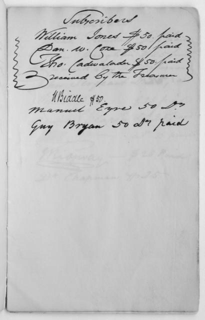 Subscription for the Author of the Declaration of Independence, 1826