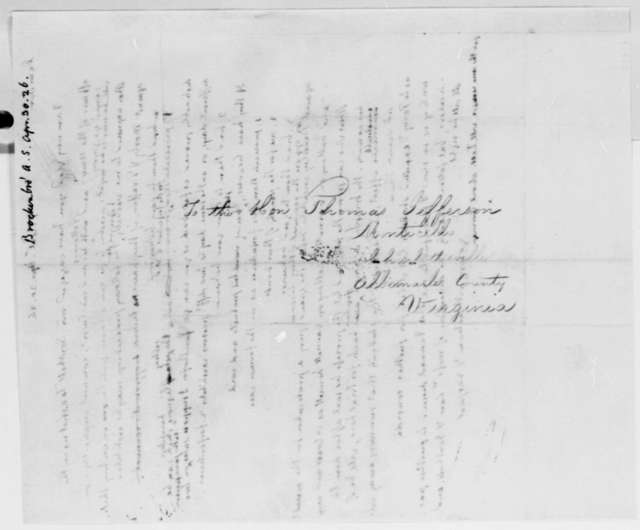 Thomas Jefferson to Arthur S. Brockenbrough, April 30, 1826
