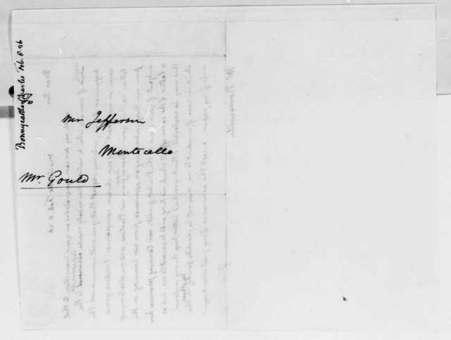 Thomas Jefferson to Charles Bonnycastle, February 8, 1826