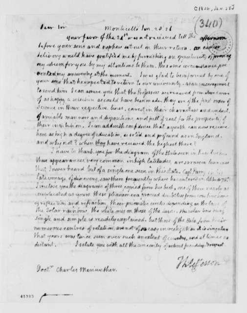 Thomas Jefferson to Charles Meriwether, January 28, 1826
