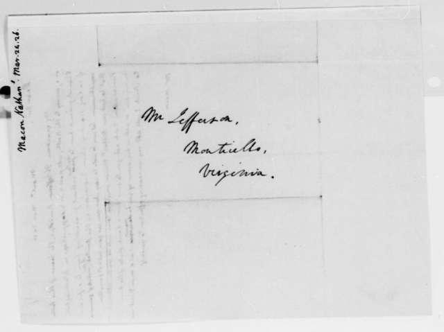 Thomas Jefferson to Nathaniel Macon, March 24, 1826