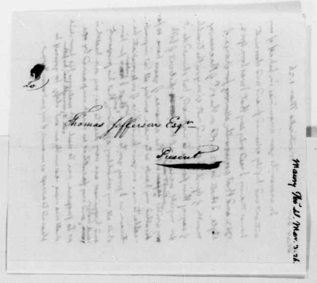 Thomas Jefferson to Thomas Walker Maury, March 1, 1826