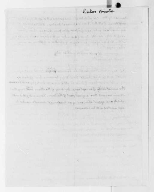 Thomas Jefferson to University of Virginia Board of Visitors, January 20, 1826, Circular