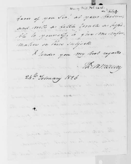 Thomas Walker Maury to Thomas Jefferson, February 24, 1826
