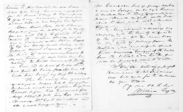 William Taylor to James Madison, August 10, 1826.