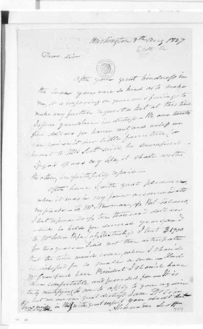 Alexander Scott to James Madison, August 8, 1827.