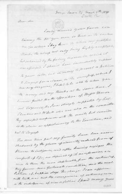 Alexander Scott to James Madison, March 8, 1827.