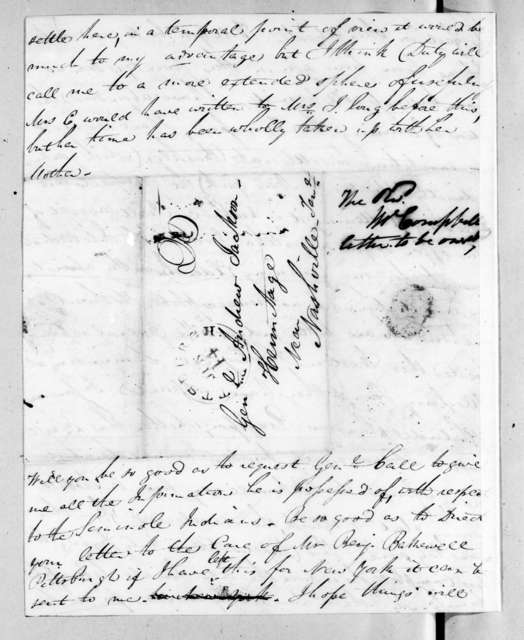 Allan Ditchfield Campbell to Andrew Jackson, June 14, 1827