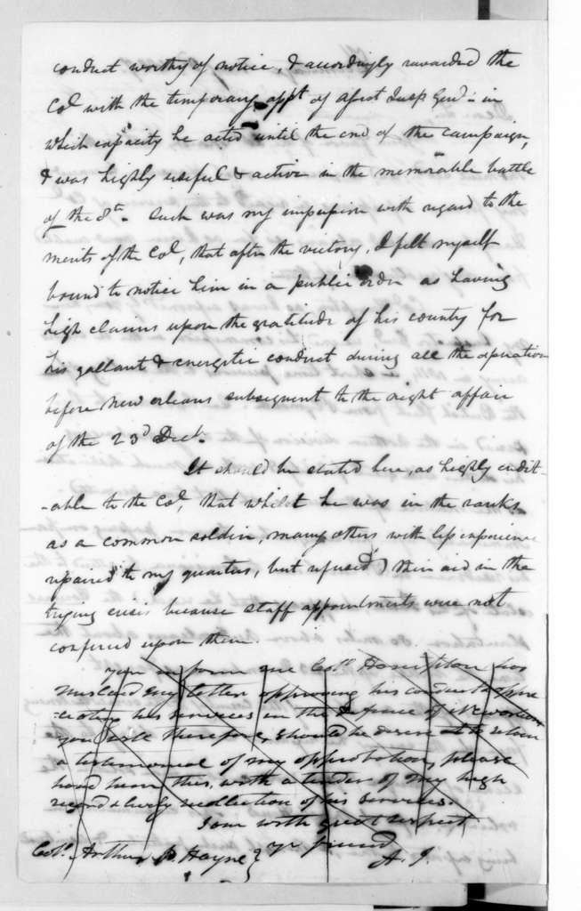Andrew Jackson to Arthur Peronneau Hayne, May 3, 1827