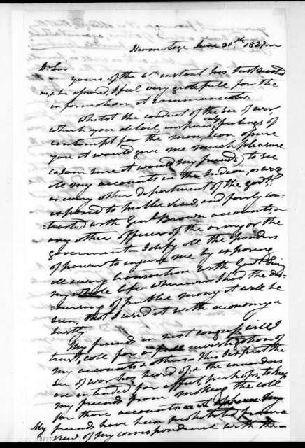 Andrew Jackson to Charles Pendleton Tutt, June 30, 1827