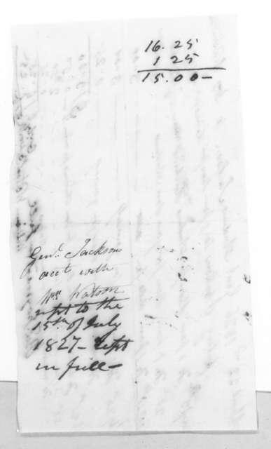 Andrew Jackson to William Watson, April 28, 1827