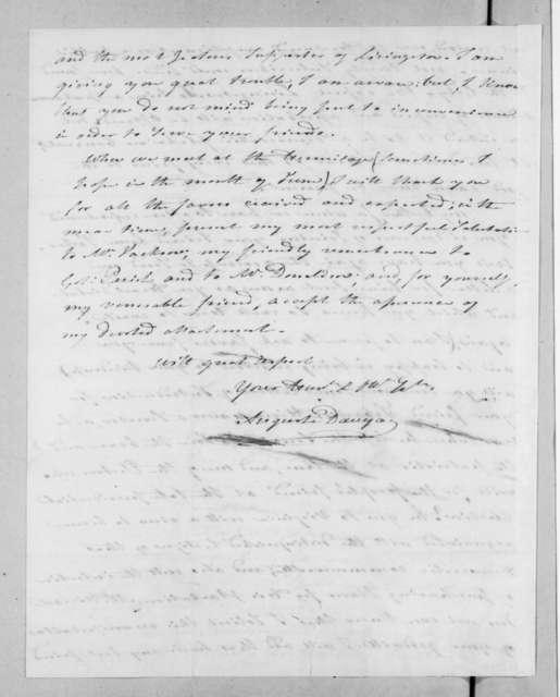 Auguste Genevieve Valentin Davezac to Andrew Jackson, May 8, 1827