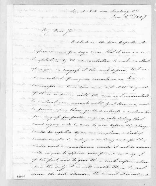Charles Pendleton Tutt to Andrew Jackson, June 6, 1827