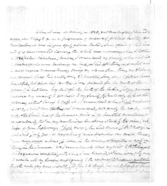 Christopher Hughes to Dolley Payne Madison, November 8, 1827.